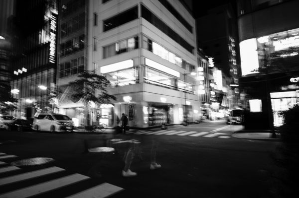 日比谷Barお馴染みの稲垣ビル。Rapid ghost.